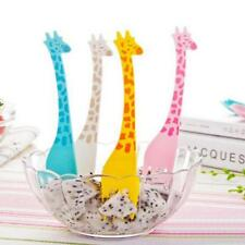 NEW 12Pcs/set Giraffe Shape Fruit Forks Picks Lunch Box Forks CB