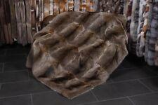 6641 Doppleseitige Kanadische Waschbär Pelzdecke Echt Fell Decke Waschbär Pelz