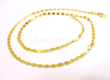 """45cm 17.7 """"  18K Yellow Gold Plated Lobster Clasp Detail Small Chain Necklace BB"""