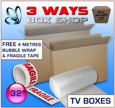 32 Inch LCD TV Picture Cardboard Removal Boxes - Free Bubble wrap