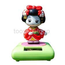 1pc Geisha Dancing Solar Power Flip Flap Bobble Head Toys Figurine Doll #A