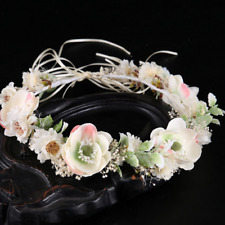 Bridal Headband Water Lily Flower Garland Princess Crown Tiara Hairband Jewelry