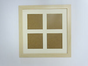 Ivory Effect 14x14 Square Multi Aperture Picture Photo Frame  5x5 Photos