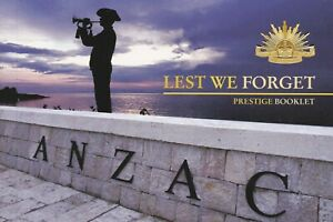 2008 PRESTIGE STAMP BOOKLET - LEST WE FORGET - THE ANZAC TRADITION IN STAMPS