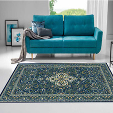 Orientteppich Teppich Klassisch Wohnzimmer Robust Blau Limette verschied. Größen