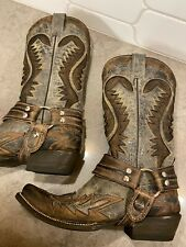 Women's Stetson Distressed Brown Leather Boots - Size 7