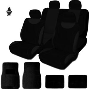 For Hyundai New Soft Black Cloth Car Truck Seat Covers With Mats Full Set