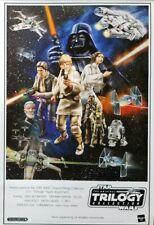 "Vintage Hasbro Star Wars Trilogy Action Figure Promo Poster 20"" x 30"" RARE"