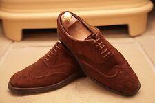 Crockett & Jones Roxburgh Men's Snuff Suede Brogues Shoes Size UK 8