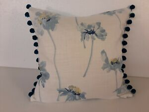 """Laura Ashley Runswick fabric with pompoms Cushion Cover16"""""""