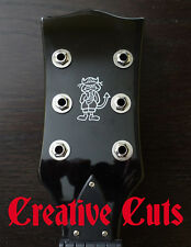 AC/DC Angus Young Silver Black Custom  Guitar Headstock Logo Vinyl Sticker Decal