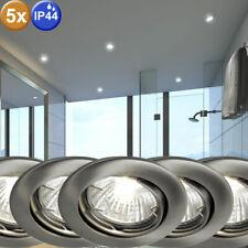 5er Set Focos Empotrables de Techo Luces Orientable Ambientes Húmedos Lámpara