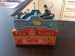 Chad valley , boxed toy scales ,