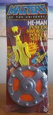 1983 HE-MAN POWER SWORD & POWER SHIELD GID MOTU MASTERS UNIVERSE MOC MIB AFA IT!