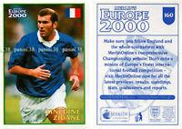 "RARE !! Sticker ZINEDINE ZIDANE ""ENGLAND 2000"" Panini"