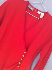 Femme Liz Claiborne à manches longues robe rouge: L