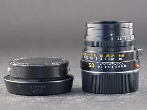 Leica M 50mm 2.0 Summicron schwarz FOTO-GÖRLITZ Ankauf+Verkauf