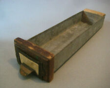 New listing Hardware cabinet bin Drawer nails parts antique small wood galvanized metal