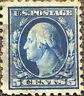 Scott #428 US 1914 5 Cent Washington Postage Stamp Perf 10