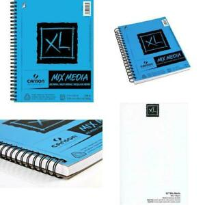 Canson XL Series Mix Media Paper Pad, Heavyweight, Fine Texture, Heavy Sizing Fo
