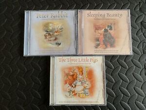 Classic Childrens Stories Nursery Rhymes 3 CD Audio Books Peter Rabbit Sleeping