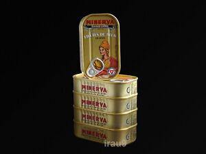 5 Cans Tuna Fish Filetts Minerva In Olive Oil 125g each - 4.4oz Portugal