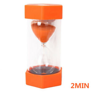 1/2/3/5/10mins Sandglass Hourglass Sand Clock Egg Kitchen Timer Kid Toys Games