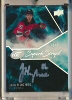 2019-20 Upper Deck Ice Superb Script AUTO Jack Hughes /25 New Jersey Devils