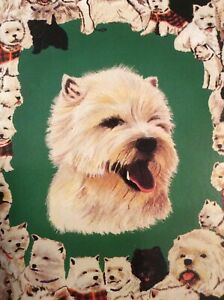 5 Blank Note Cards Notelets  Note Cards West Highland Terrier Westie Dog