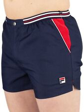 Fila Vintage 'Iconos 80s Casual Azul Marino Retro Pantalones Tenis - Wimbledon