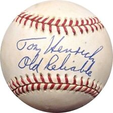 Tom Henrich Signed Inscribed Old Reliable OAL Vintage Baseball Yankee Auto COA