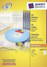 Avery Opaque Classic Size CD Labels [Pack 200] L6043-100