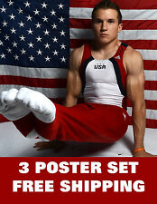 JONATHAN HORTON olympics 2012 USA excercise gym sexy man london games  3 POSTERS