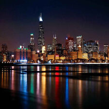 City Nightscape 10'x10' CP Backdrop Computer printed Scenic Background ZJZ-798