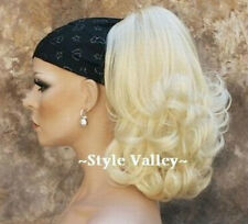Light Blonde Ponytail Extension Jaw/ Claw clip in on Curly hair piece HOT!!