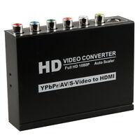 HD 1080P Composite S-Video YPBPR RCA R/L Audio to HDMI Converter HDTV AV Adapter