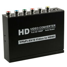 HD 1080P Composite S-Video YPBPR RCA R/L Audio to HDMI Konverter HDTV AV Adapter