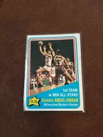 1972 Topps #163 Kareem Abdul-Jabbar - NBA All-Star - 1st Te Bucks UCLA 4 - VG/EX