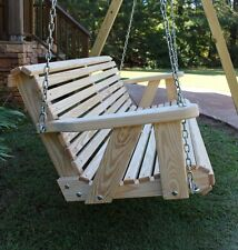 Garden 5 ft Roll Back Amish Heavy Duty kiln-dried Pine Hand Crafted Porch Swing