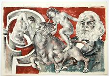 Hans Erni original lithograph