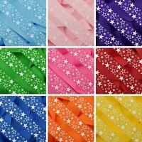Stars On Plain Coloured Grosgrain Ribbon Hair Bows Arts & Crafts 10mm 25mm 38mm