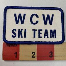 Vintage WCW SKI TEAM Patch ( ? Water Ski ? Snow Ski ?) 99QQ