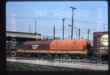Original Slide Freight DT&I Detroit Toledo & Ironton Coil Flat 1349 In 1972