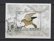 1992 Corée feuillet 1 timbre oblitéré oiseau   /B5co3