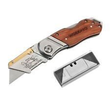 Wood Handle Knife Electrical Folding Utility Knife with 10PCS Knife Blades Pipe