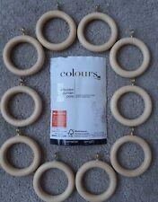 B&Q Colour, Pine Curtain Rings x 10