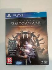 shadow of war middle-earth middle earth gold edition steelbook ps 4 ps4 neuf uk