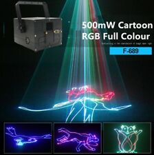 PRO 500mW Stage Light 3D Cartoon Animation RGB Full Color ILDA DMX Laser light
