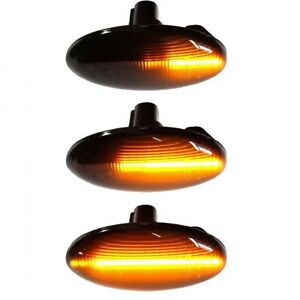 Smoke Sequential LED Side Marker Light 02-07 For Subaru Forester Liberty Impreza