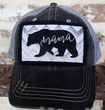 New Womens Trucker/Baseball Cap/Hat - MAMA BEAR - Mom Gift Mom Clothing BLING